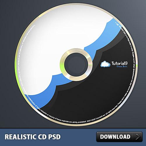 現実的な CD PSD、Photoshop で行った