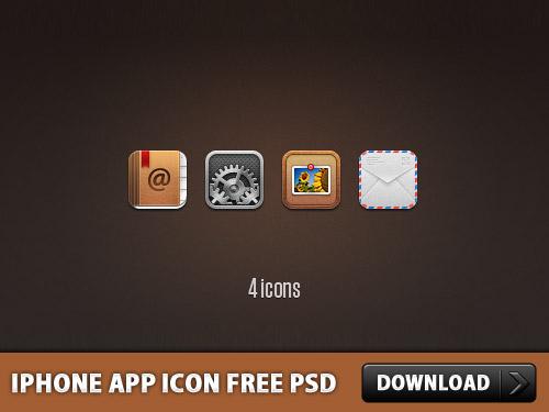 iPhone アプリ アイコン無料 psd ファイル
