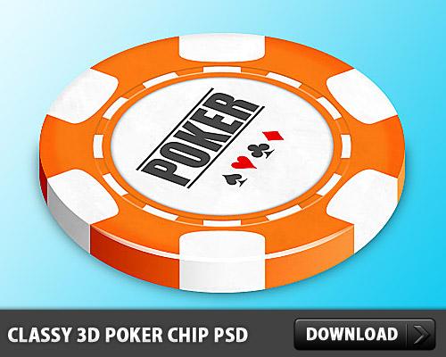 上品な 3 D のポーカー チップ無料 psd ファイル