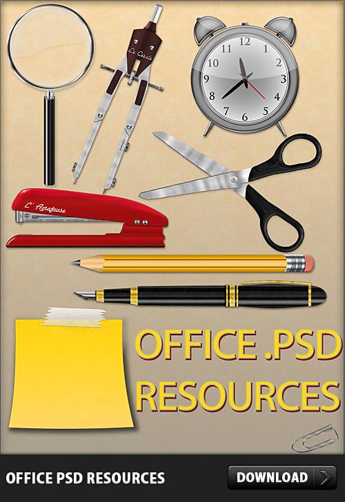 オフィス無料の PSD リソース
