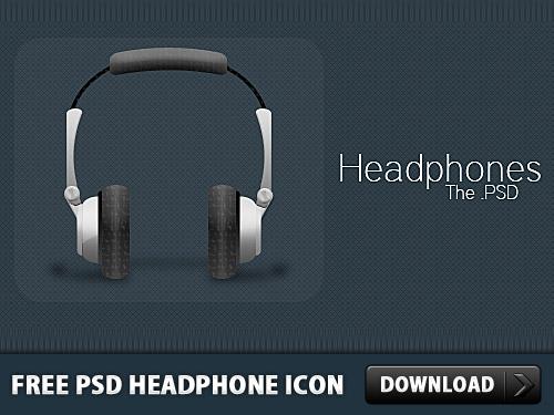 無料 PSD のヘッドフォン アイコン