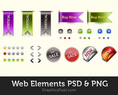 無料の Web 要素 PSD パック