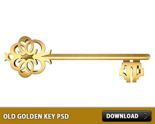 古いの黄金の鍵無料の PSD
