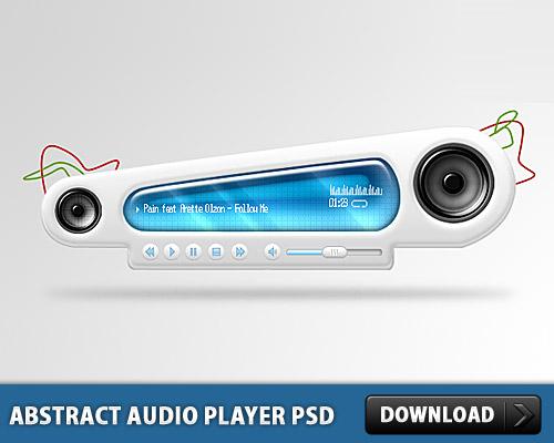 抽象的なオーディオ プレーヤー無料 psd ファイル