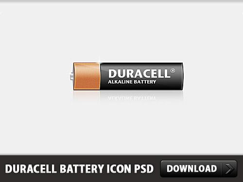 デュラセル電池アイコン無料 psd ファイル
