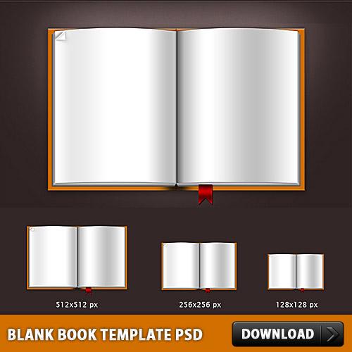 空白の本テンプレート PSD ファイル