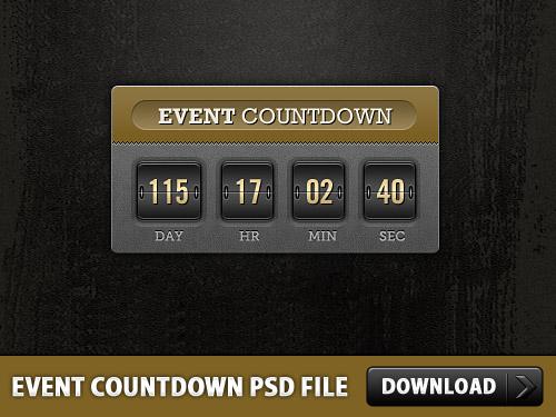 イベント カウント ダウン無料の PSD ファイル