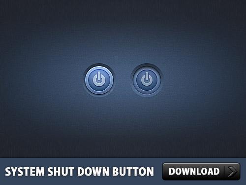 システム シャット ダウン] ボタンの psd ファイル