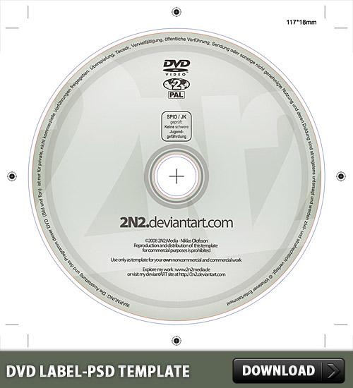 DVD ラベル無料の PSD テンプレート