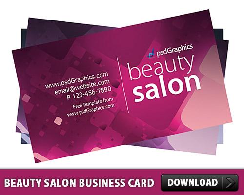 ビューティー サロン ビジネス カード テンプレート無料 psd ファイル