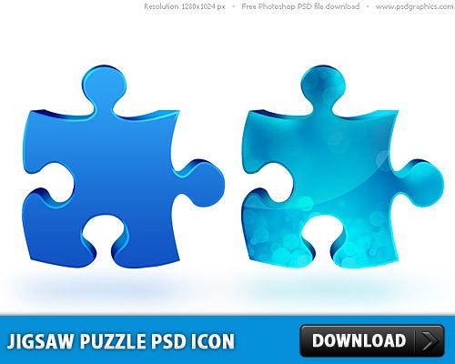 ジグソー パズルの PSD アイコン