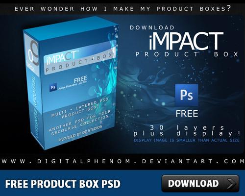 無料の製品ボックス PSD