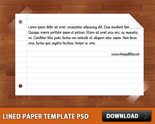 罫線入り用紙テンプレート psd ファイル