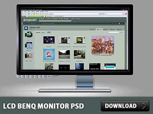 Benq の液晶モニター無料の PSD ファイル