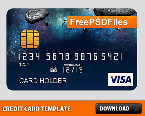 無料の PSD クレジット カード テンプレート