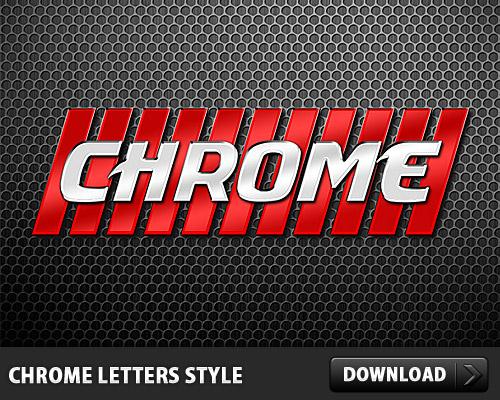 Photoshop で行われたクロム手紙スタイル