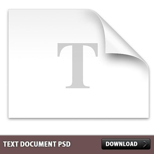 テキスト ドキュメント ファイル PSD
