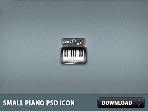 小型ピアノ PSD アイコン
