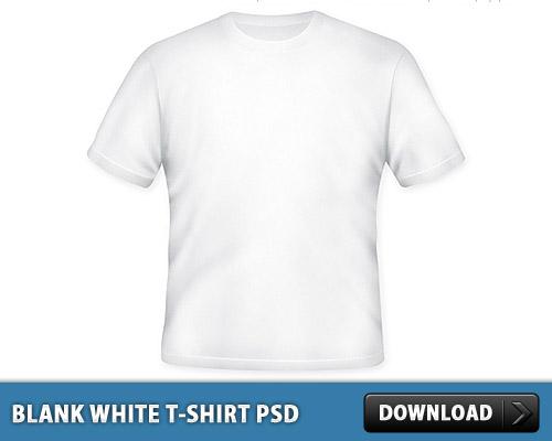 空白の白い t シャツ無料 PSD ファイル