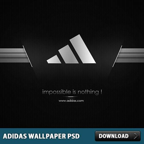 アディダスの壁紙 PSD ファイル
