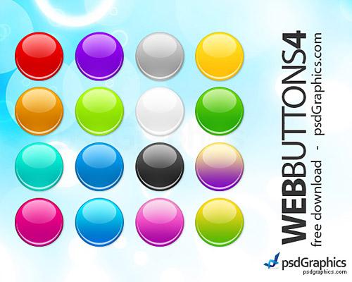 ラウンドの Web ボタン設定 PSD
