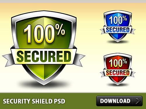 セキュリティ シールド無料 psd ファイル