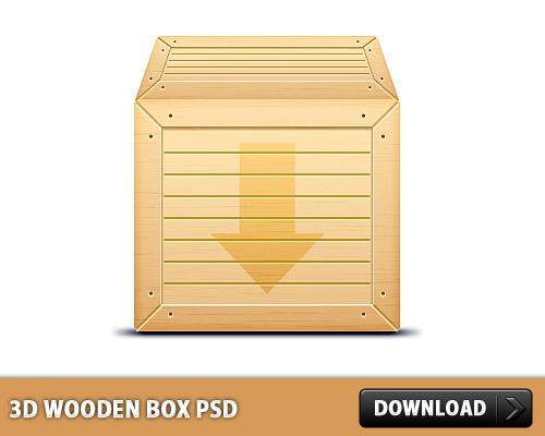 3 D 木製ボックス無料 psd ファイル