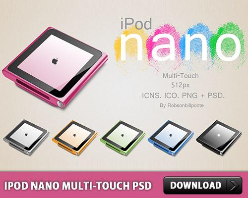 iPod nano マルチ タッチ PSD