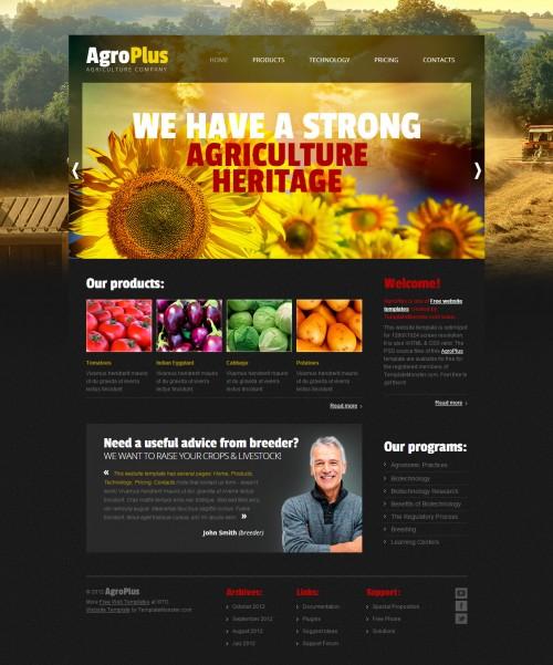農業プラス無料の PSD テンプレート