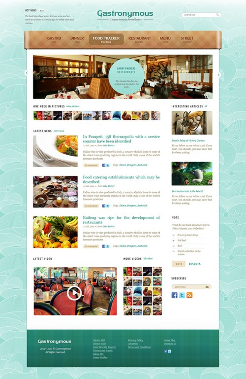 食品やレストランの無料の PSD テンプレート