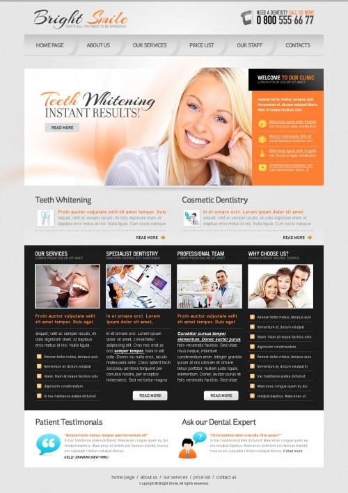 明るい笑顔 PSD ウェブサイト テンプレート