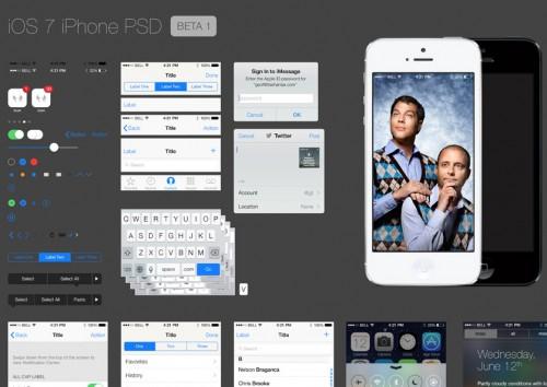 iOS 7 GUI PSD ファイル