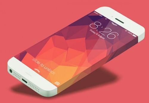 iPhone 6 電話概念テンプレート psd ファイル