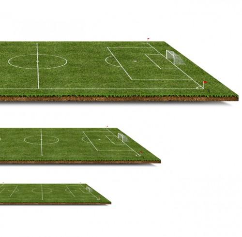 3 D のサッカー ピッチ無料の PSD ファイル