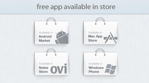 ストア プロモーション グラフィック psd ファイルで利用可能なアプリ