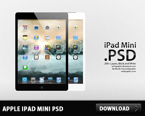 アップル ipad とミニ無料 psd ファイル