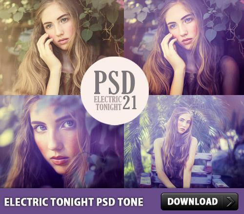 電気今夜 PSD トーン