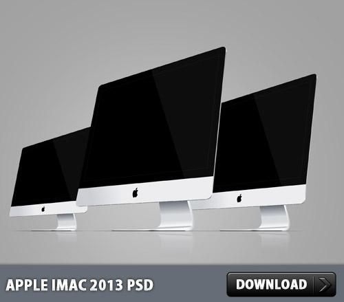 アップルの iMac 2013 PSD ファイルします。