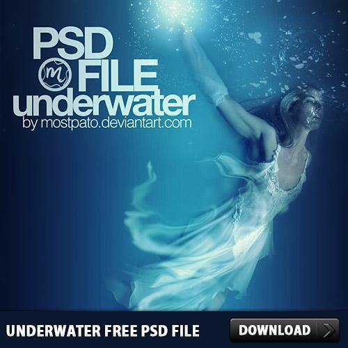 水中の無料の PSD ファイル