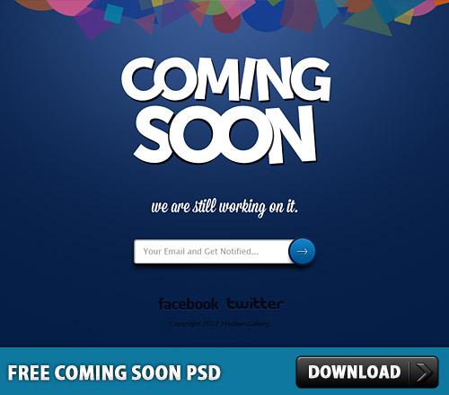 無料の psd ファイルをすぐに来る