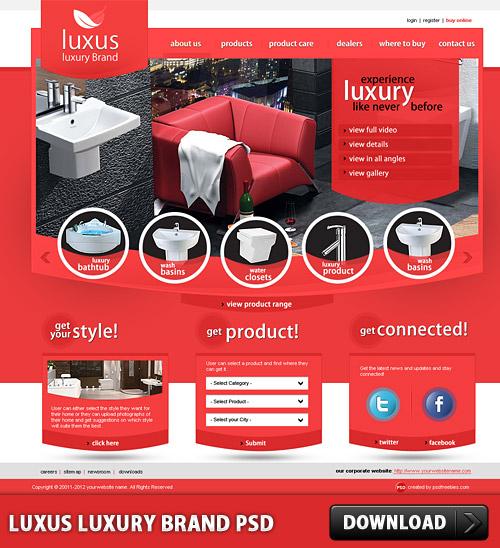 Luxus 高級ブランド無料の PSD テンプレート