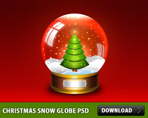 クリスマス雪グローブ PSD ファイル