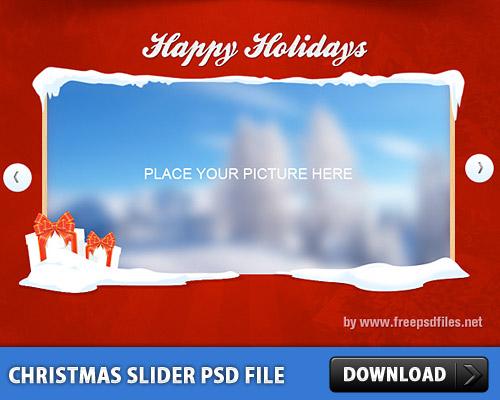 クリスマス画像スライダー無料の PSD ファイル