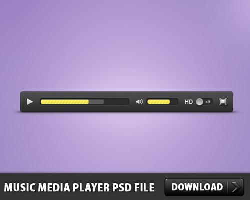 音楽メディア プレーヤー無料の PSD ファイル