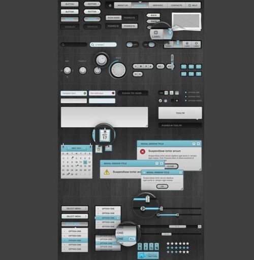 Slix UI Web アプリ キット PSD