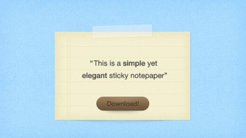 粘着性がある便箋無料 psd ファイル