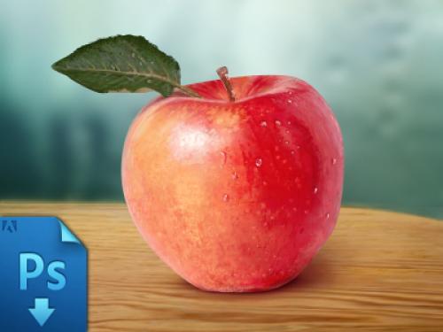 現実的なアップル無料 psd ファイル