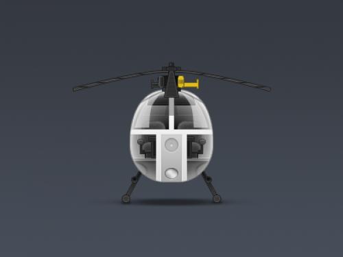 ヘリコプターのアイコン無料 psd ファイル
