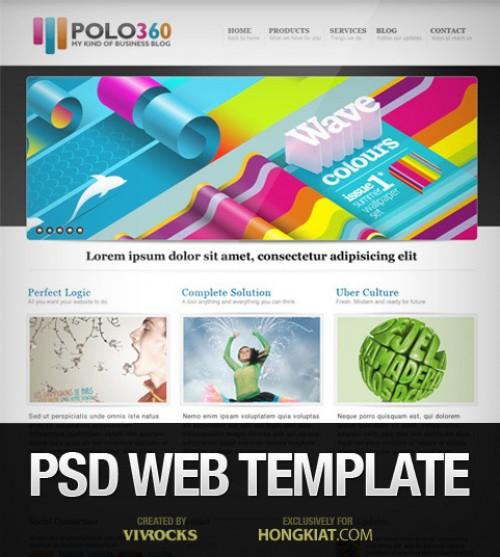 Polo360 ポートフォリオ サイト PSD テンプレート