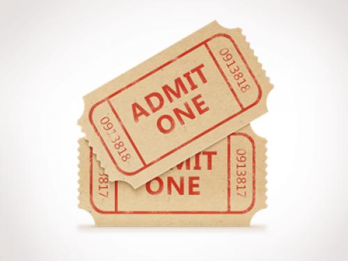 映画のチケットは無料の PSD を設定